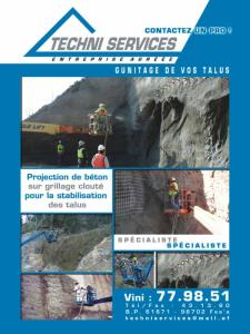 TECHNI SERVICES : PROJECTION DE BETON ET GUNITAGE DE VOS TALUS